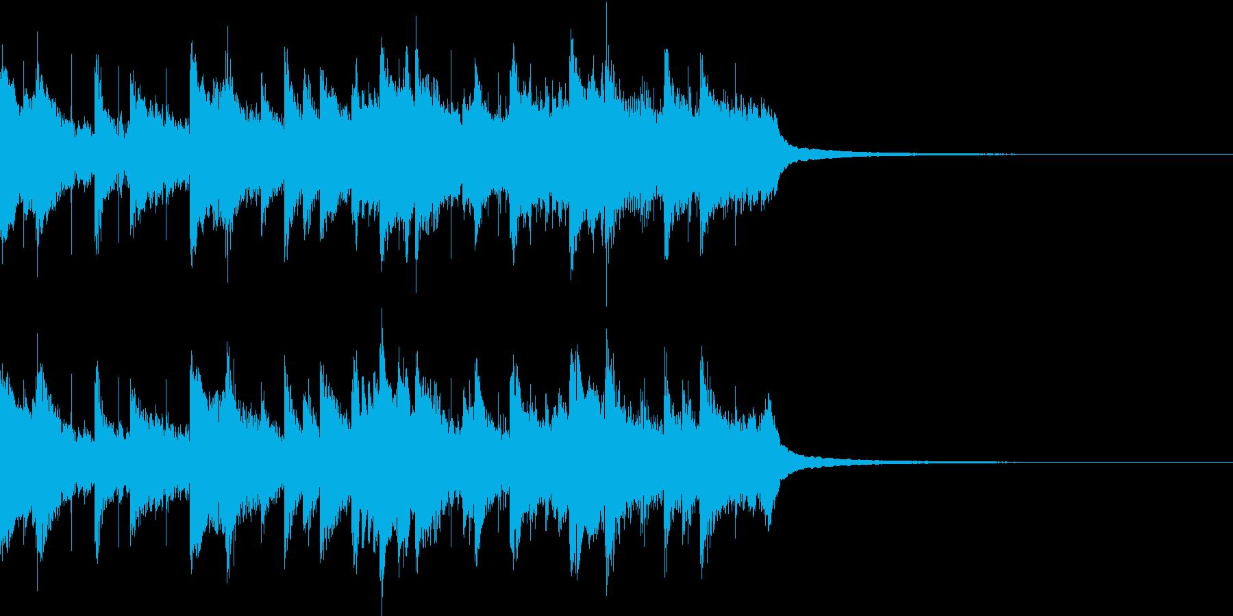 アコギ、ピアノがメインの爽やかジングルの再生済みの波形
