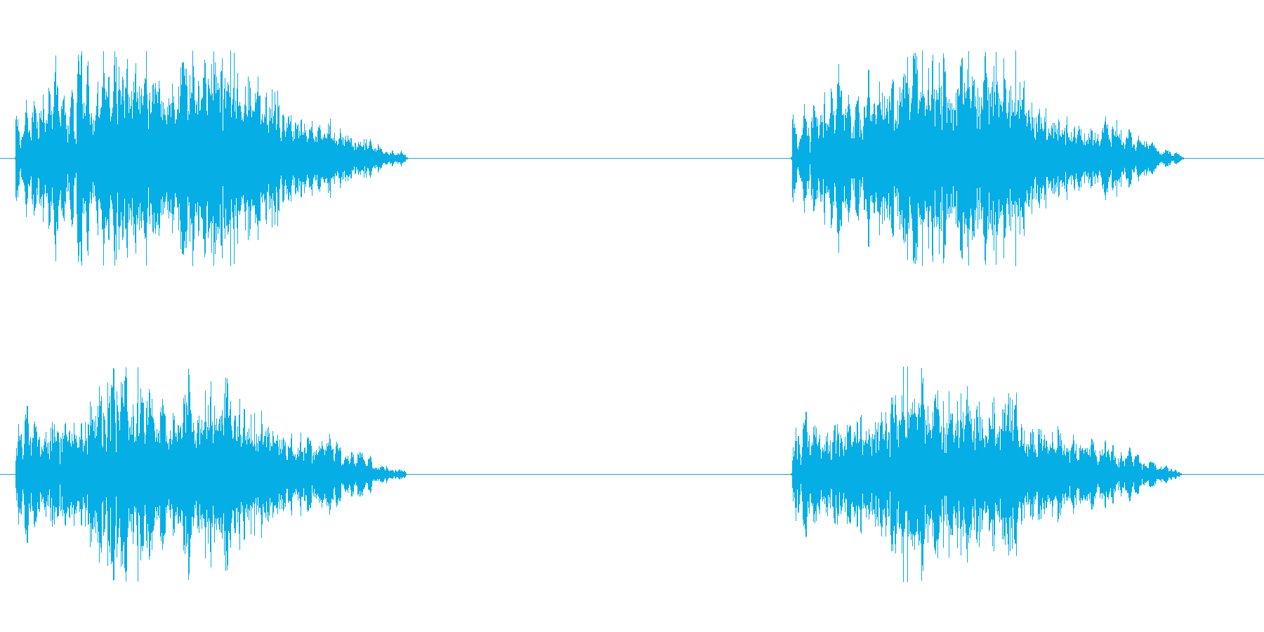 モンスターの足音の再生済みの波形