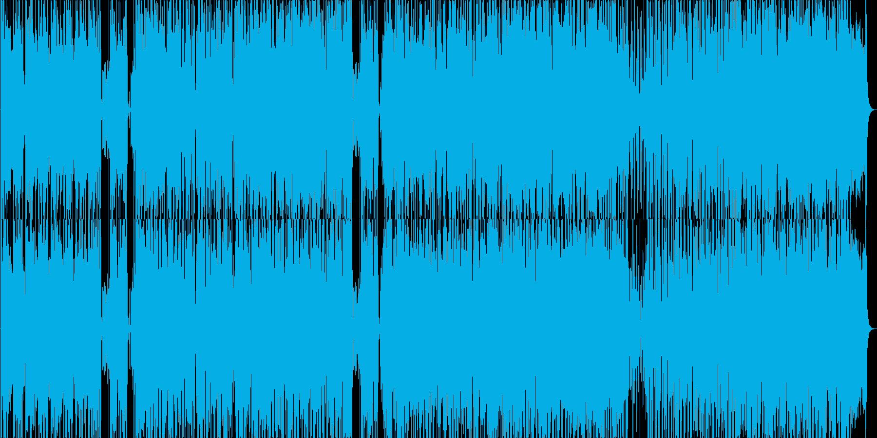 ファンキーな雰囲気のポップスの再生済みの波形