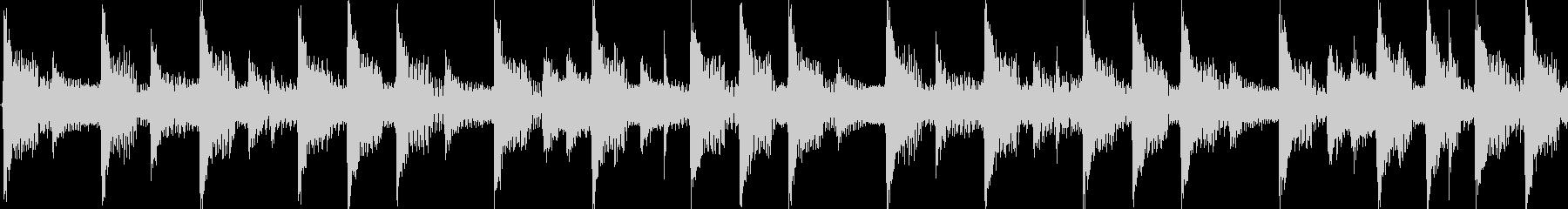 4つ打ちダンスの短いジングル(ループ)の未再生の波形