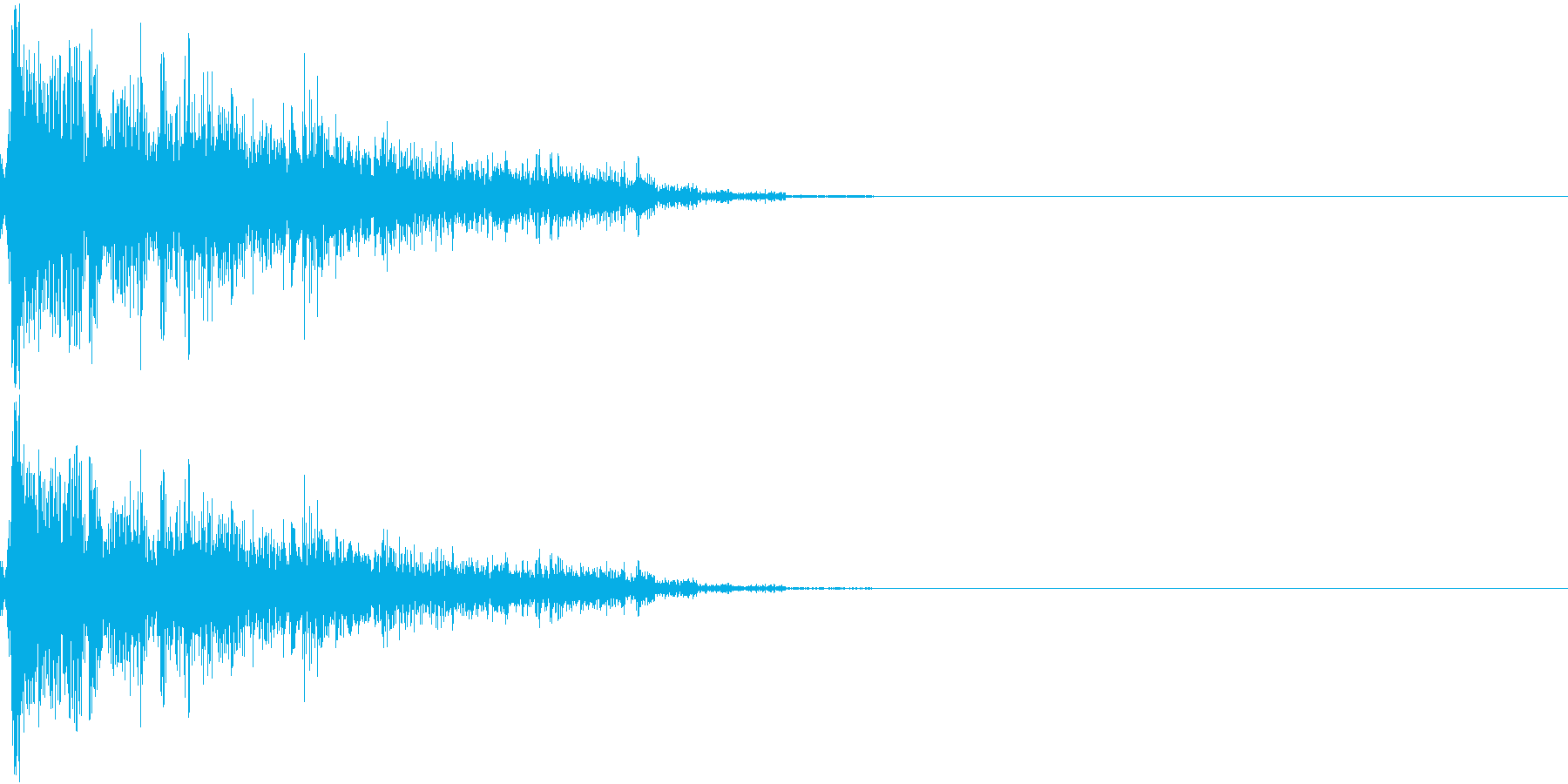 ドーン(戦車に砲撃され、爆弾が着弾爆発)の再生済みの波形