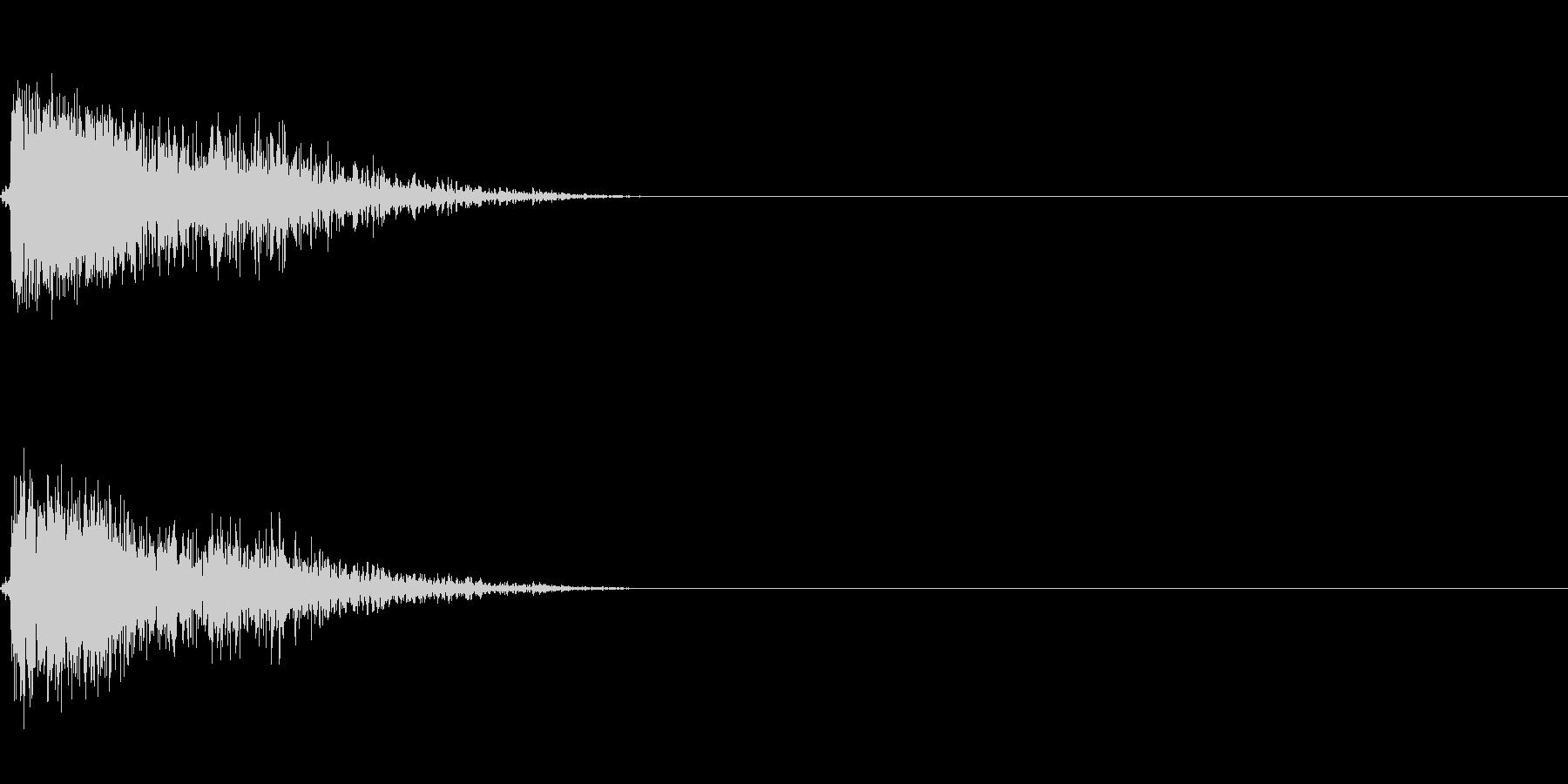 銃声 1の未再生の波形