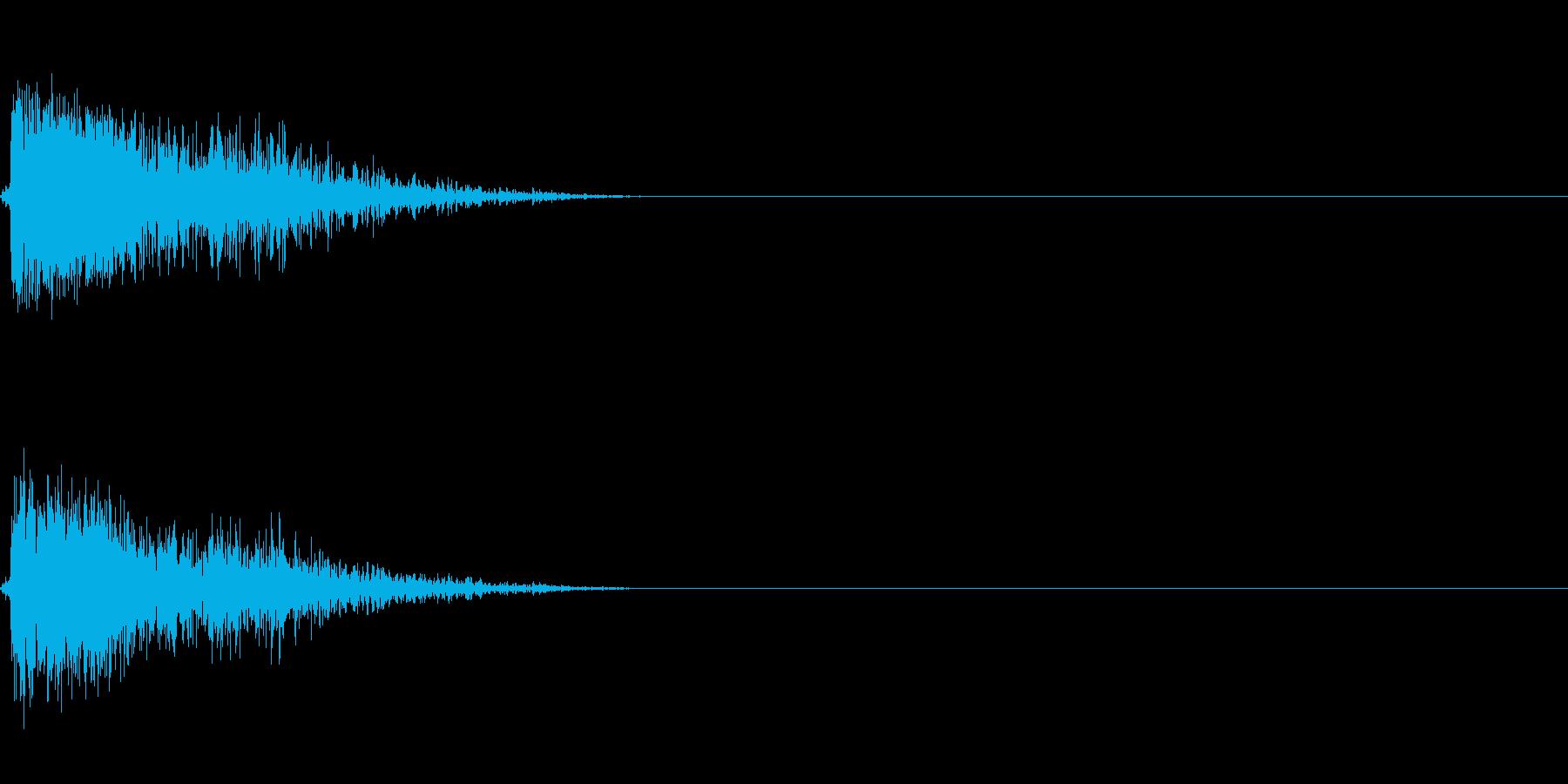 銃声 1の再生済みの波形