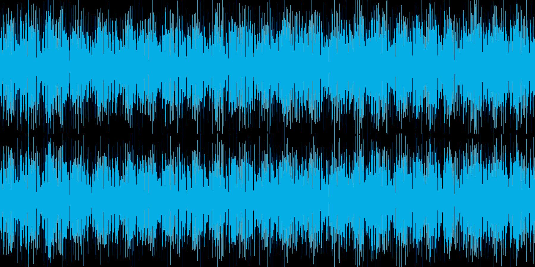 ループ可能な爽やかで気怠いエレキギター曲の再生済みの波形