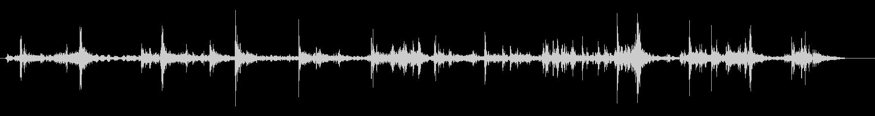 ペラペラ(本のページめくり)の未再生の波形