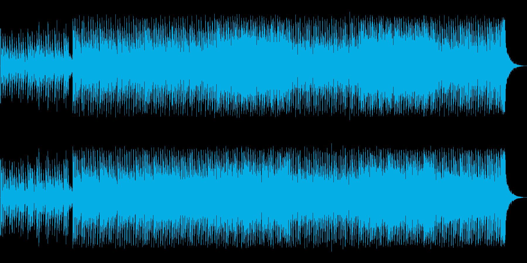 透明感とおしゃれなシンセテクノサウンドの再生済みの波形
