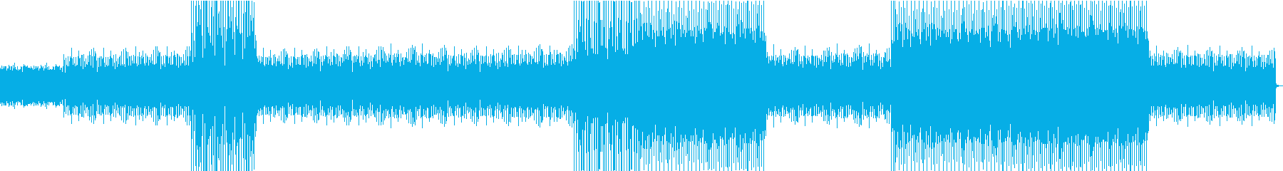 静かに盛り上がる明るいEDMの再生済みの波形