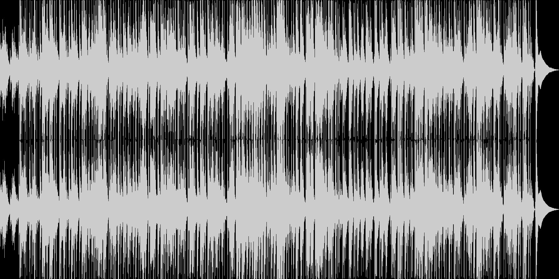 ほのぼのしたピアノトリオのポップスの未再生の波形