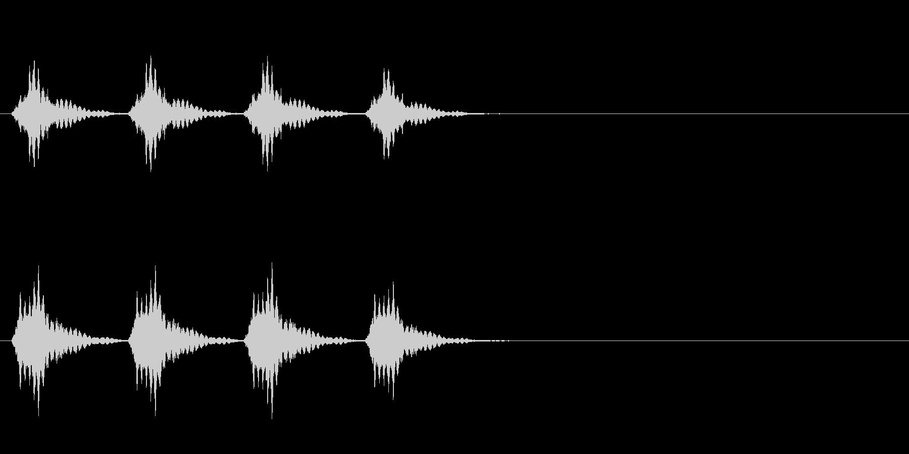 正解音や効果音。でんでんでんでん♪の未再生の波形