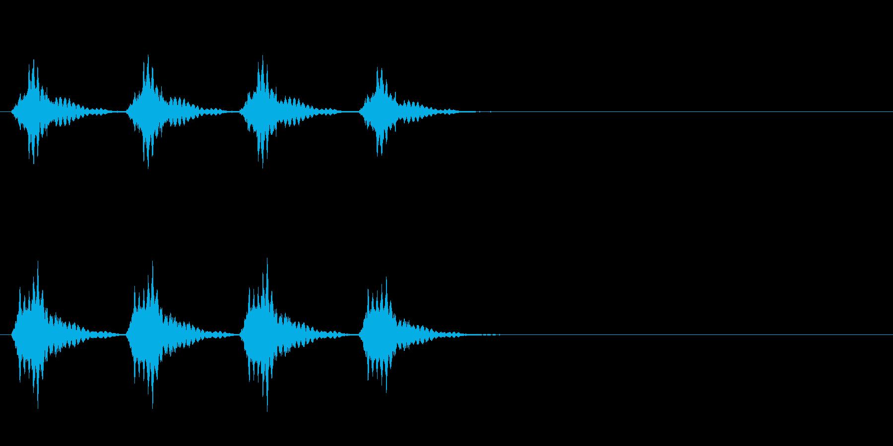 正解音や効果音。でんでんでんでん♪の再生済みの波形