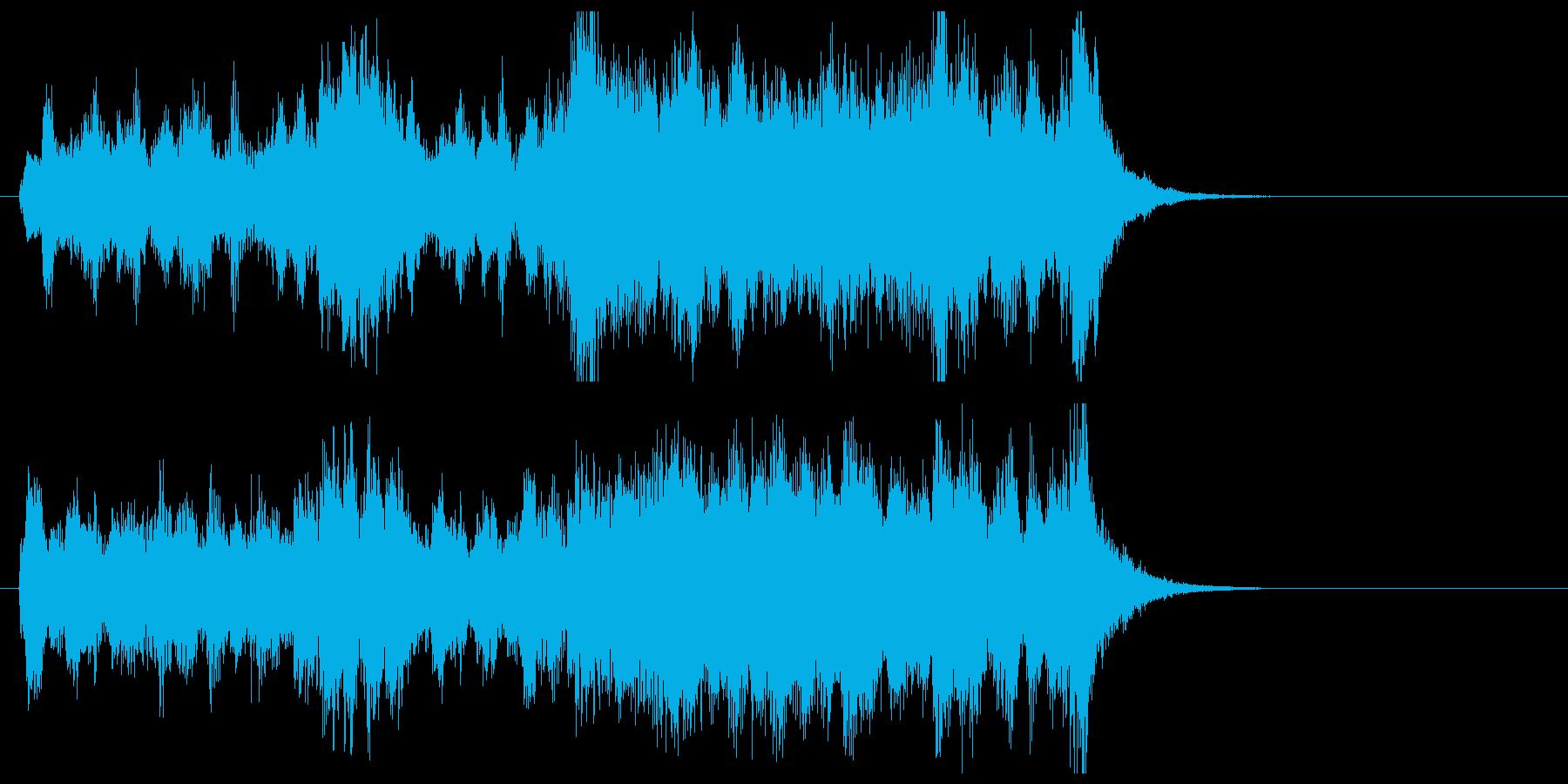 コミカルなオーケストラ・ジングルの再生済みの波形