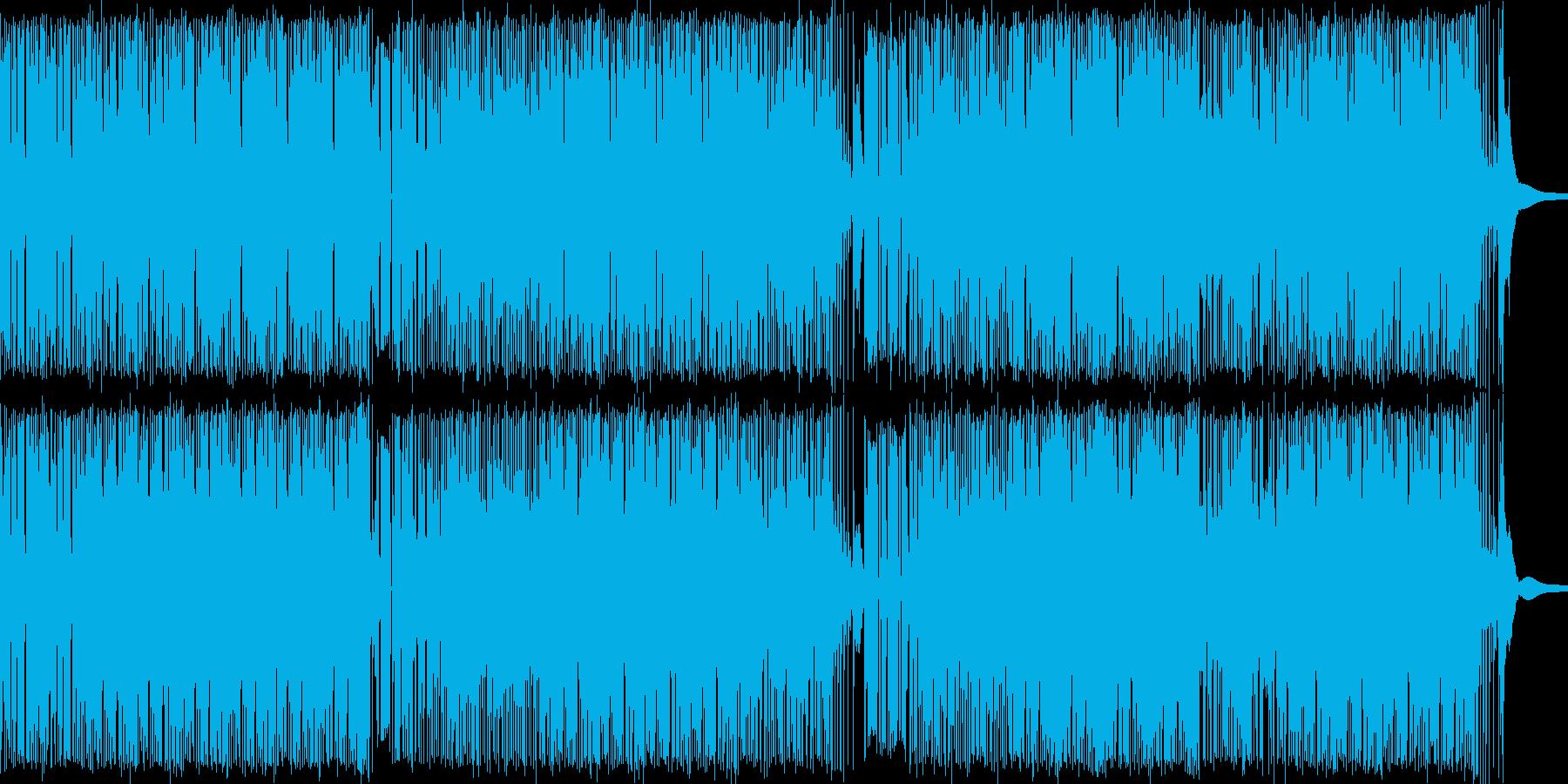 軽快なファンクミュージックの再生済みの波形