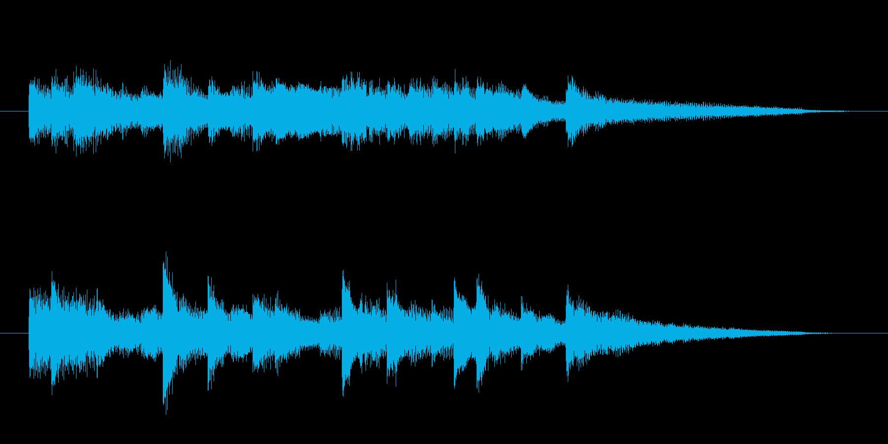 夜の都会風 ピアノソロジングルの再生済みの波形
