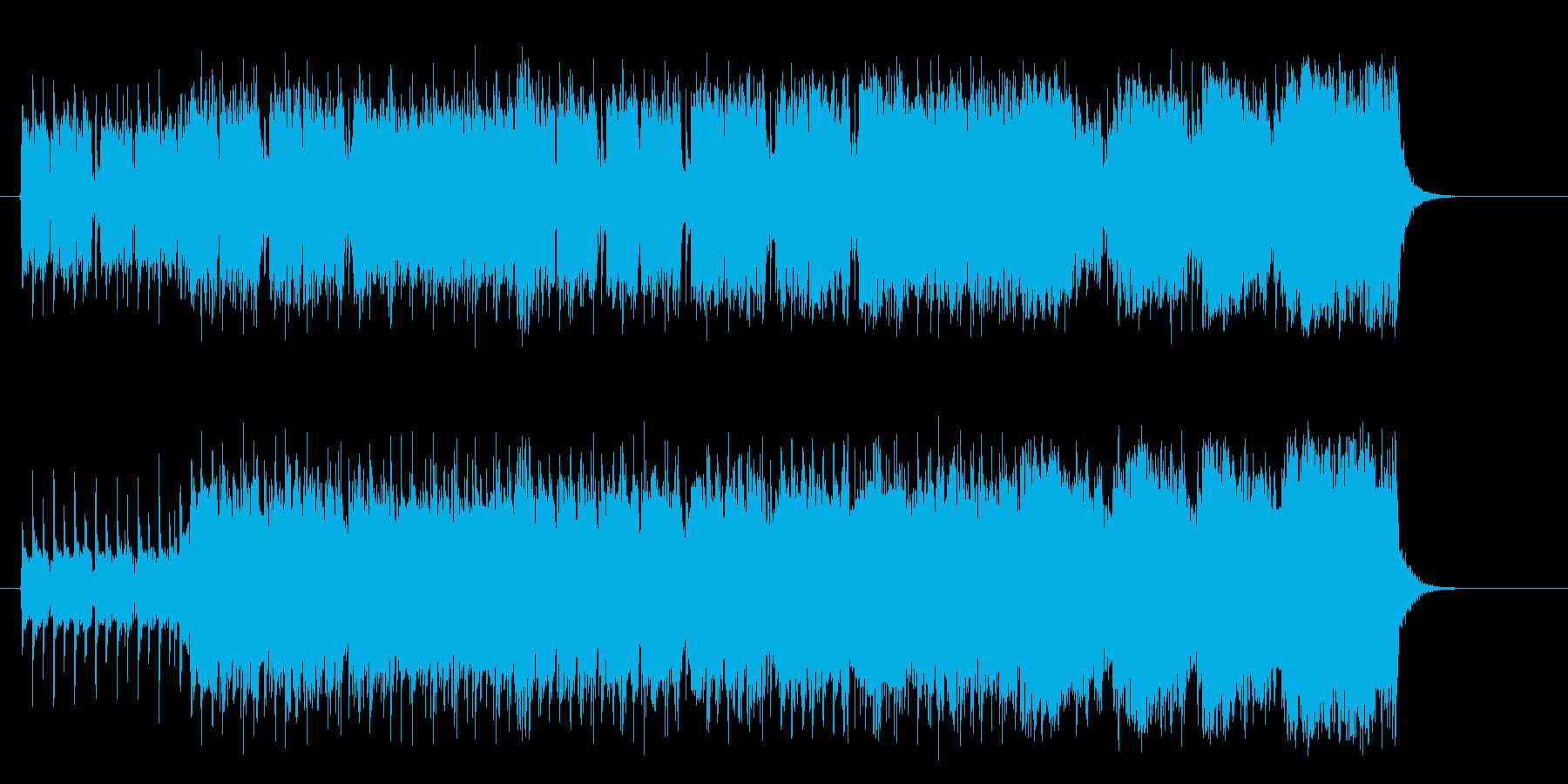 攻撃的なマイナーハードギターポップスの再生済みの波形
