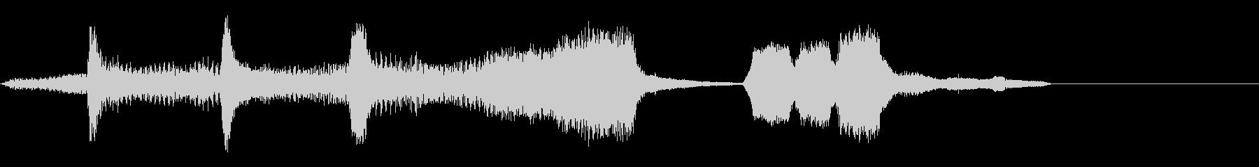 劇伴~ドジをした場面でのジングル~の未再生の波形