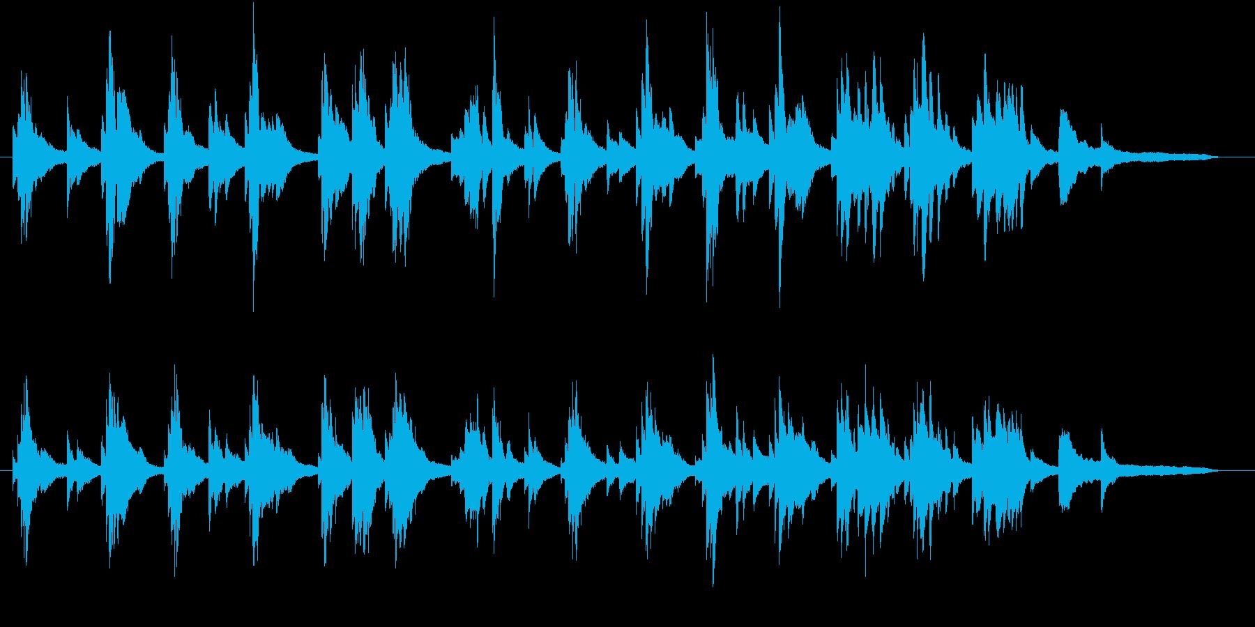 生ピアノ録音-ジャジーで美しいバラードの再生済みの波形