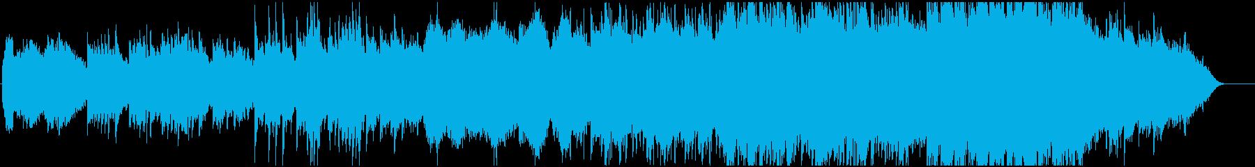 穏やかなでゆっくりなメロディーの再生済みの波形