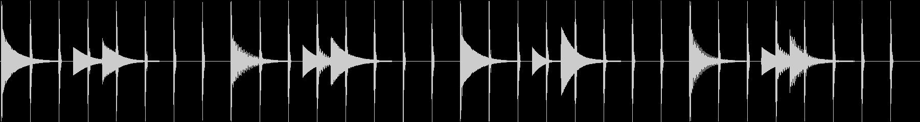ほのぼのしたシンプルヒーリングエレクトロの未再生の波形