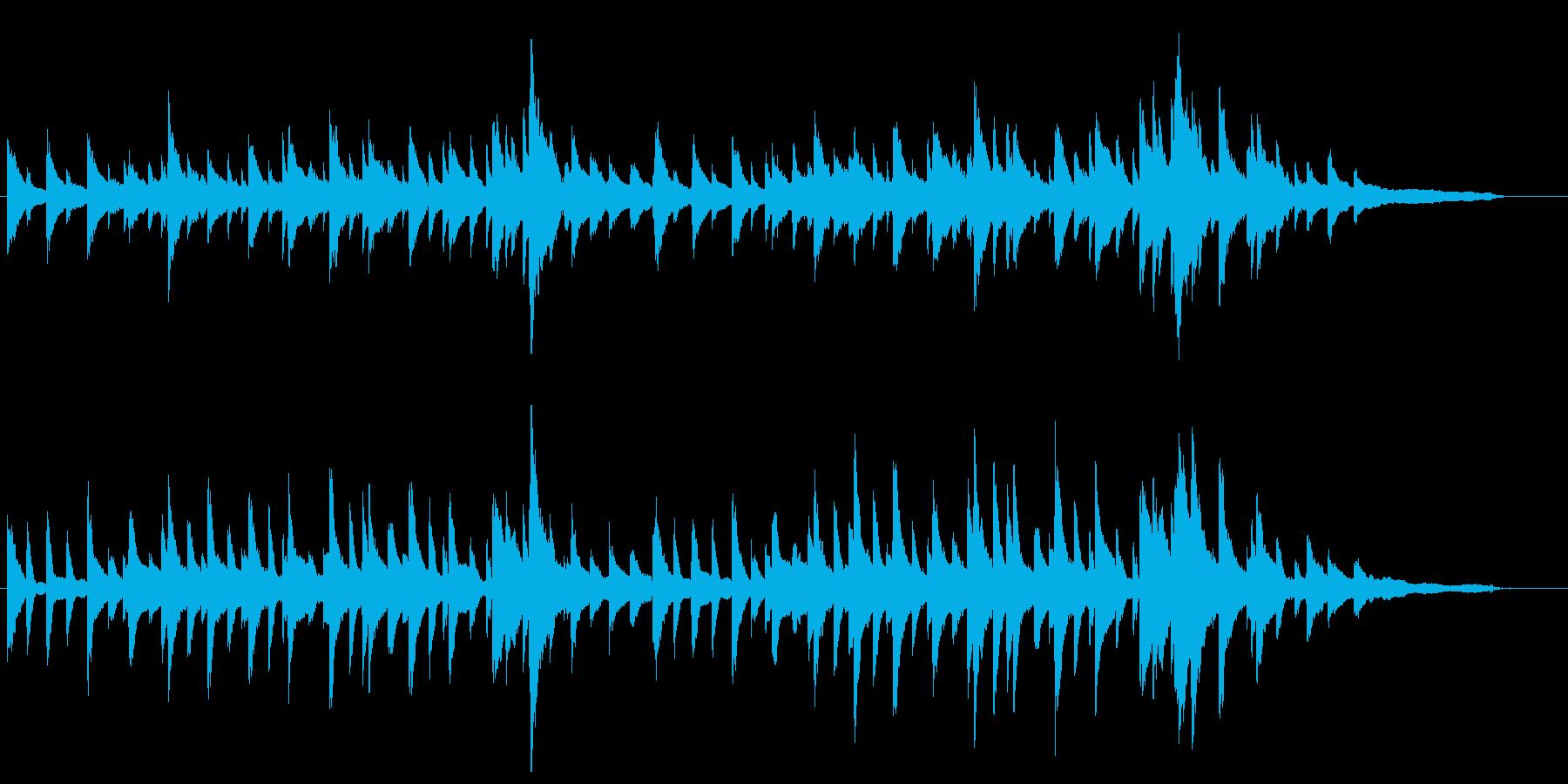 穏やかなピアノソロ曲の再生済みの波形