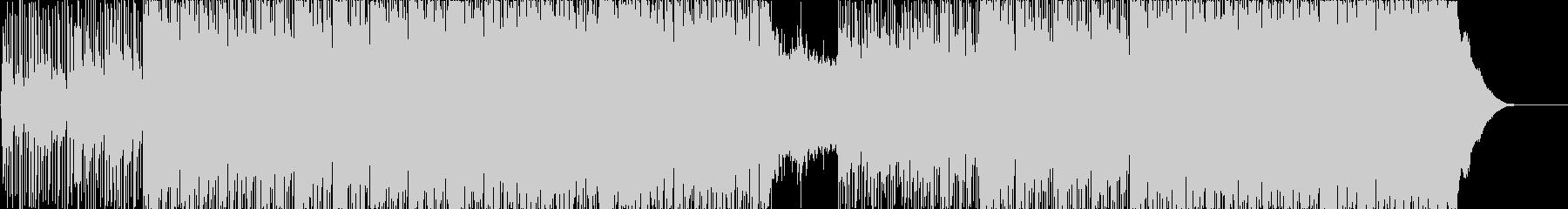 三味線や琴を使用した和風ロックの未再生の波形