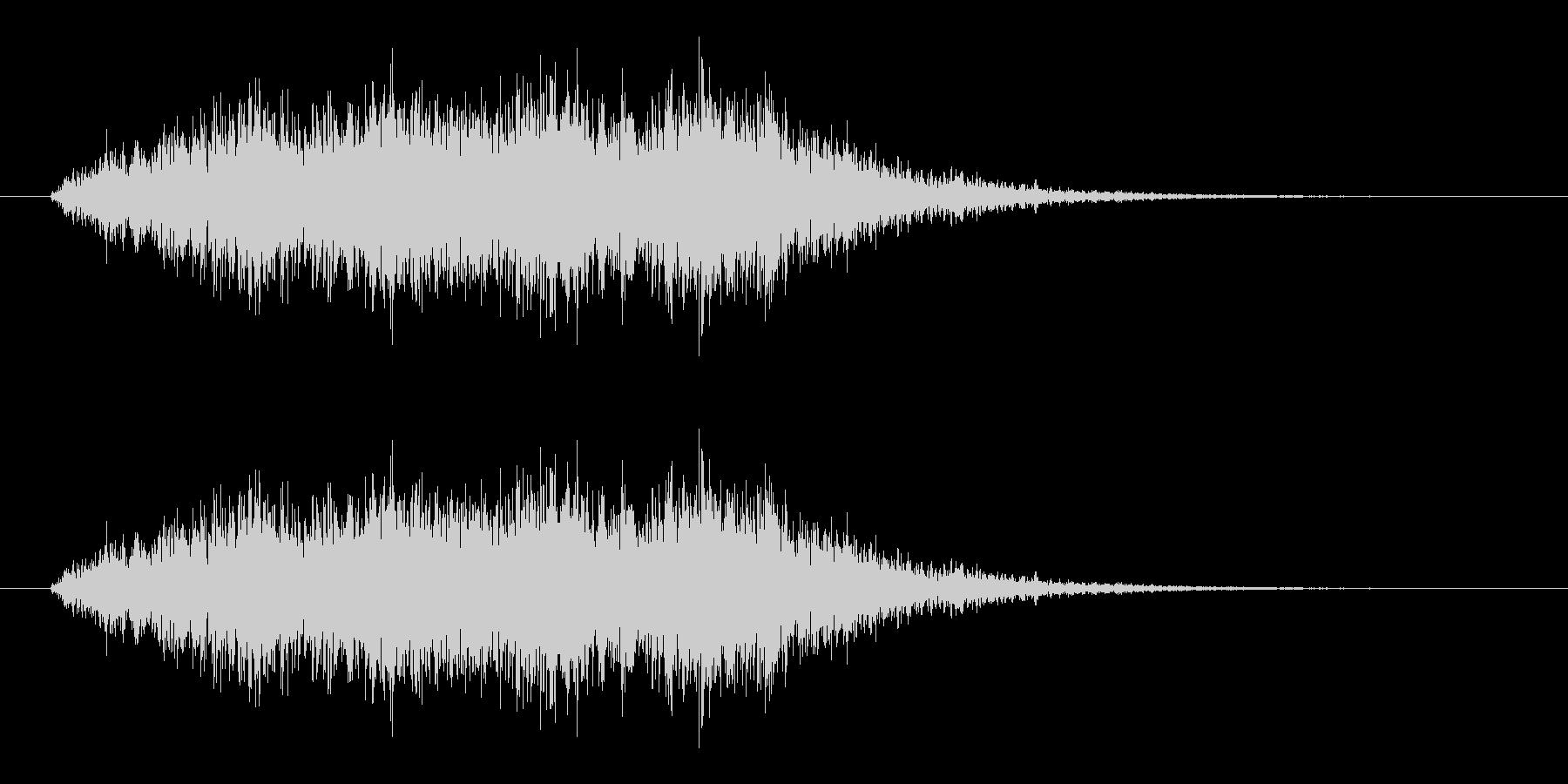 ホラーな高音コーラス効果音 ブオー あーの未再生の波形