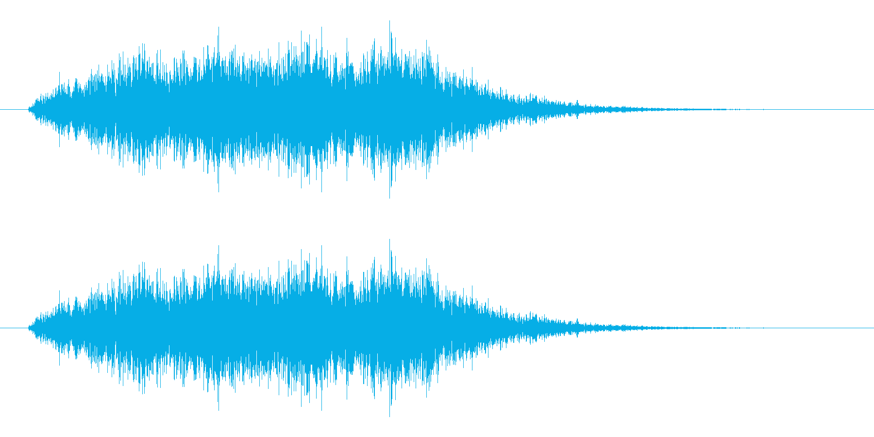 ホラーな高音コーラス効果音 ブオー あーの再生済みの波形