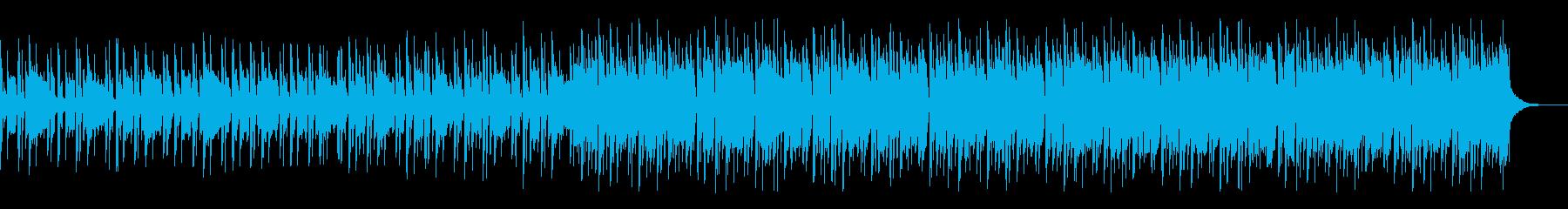 レトロで疾走感のあるゲームBGMの再生済みの波形