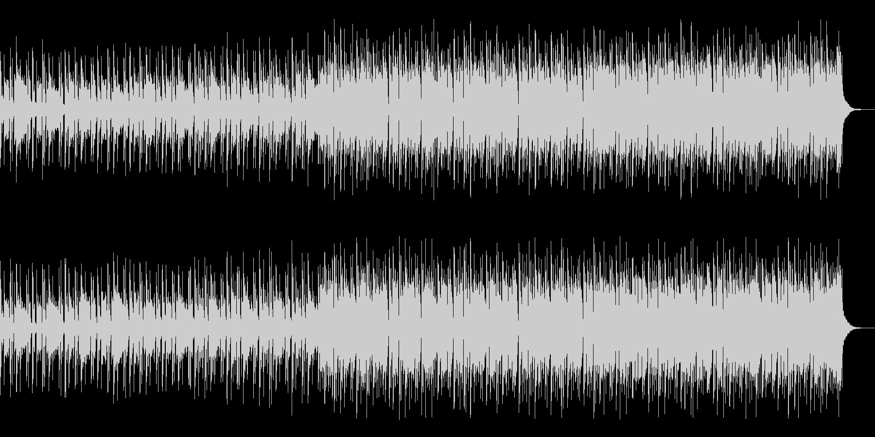 レトロで疾走感のあるゲームBGMの未再生の波形