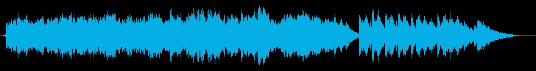 ミステリー・サスペンス映画の日常曲の再生済みの波形