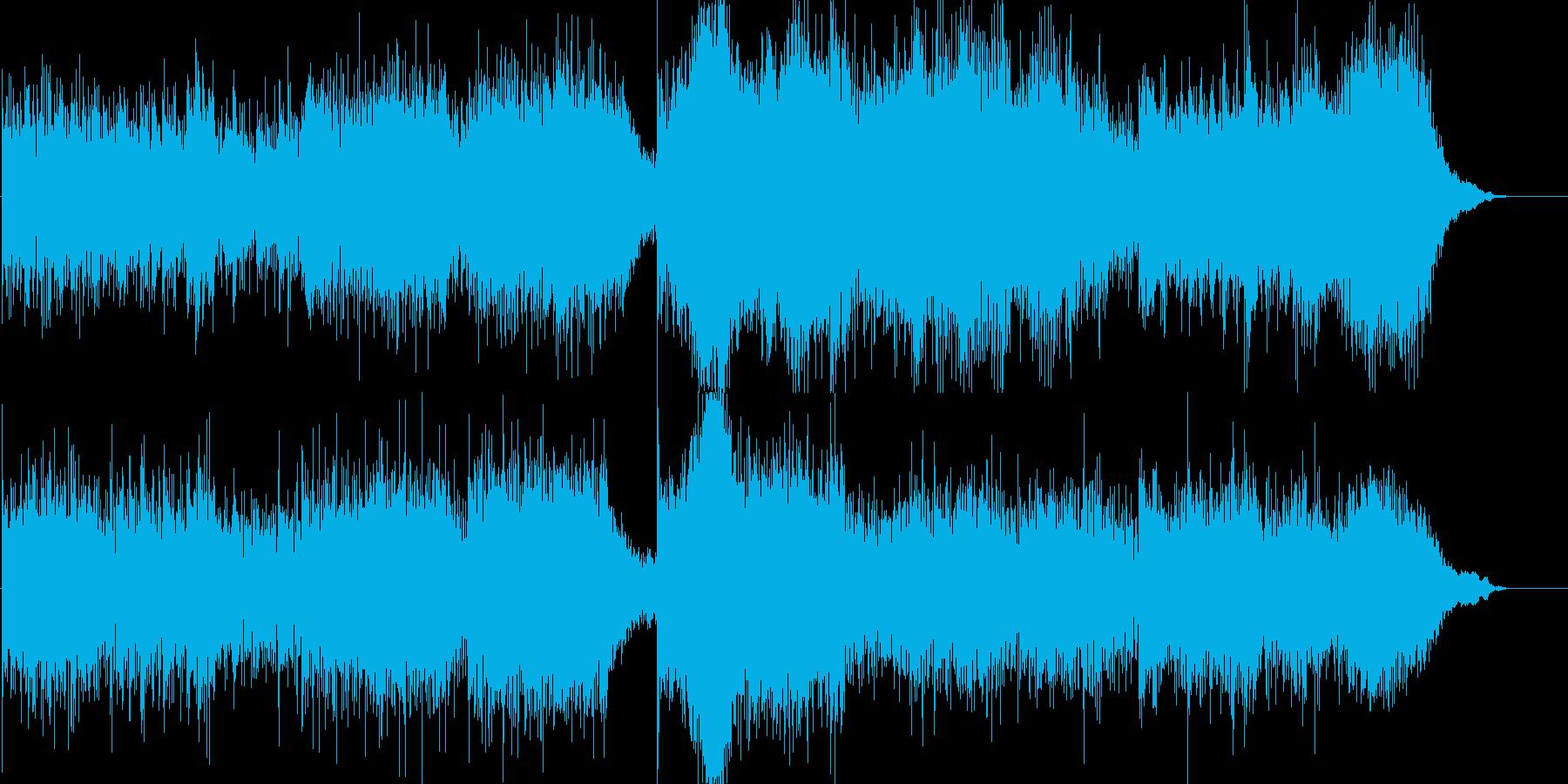 重厚な映画サウンドの再生済みの波形