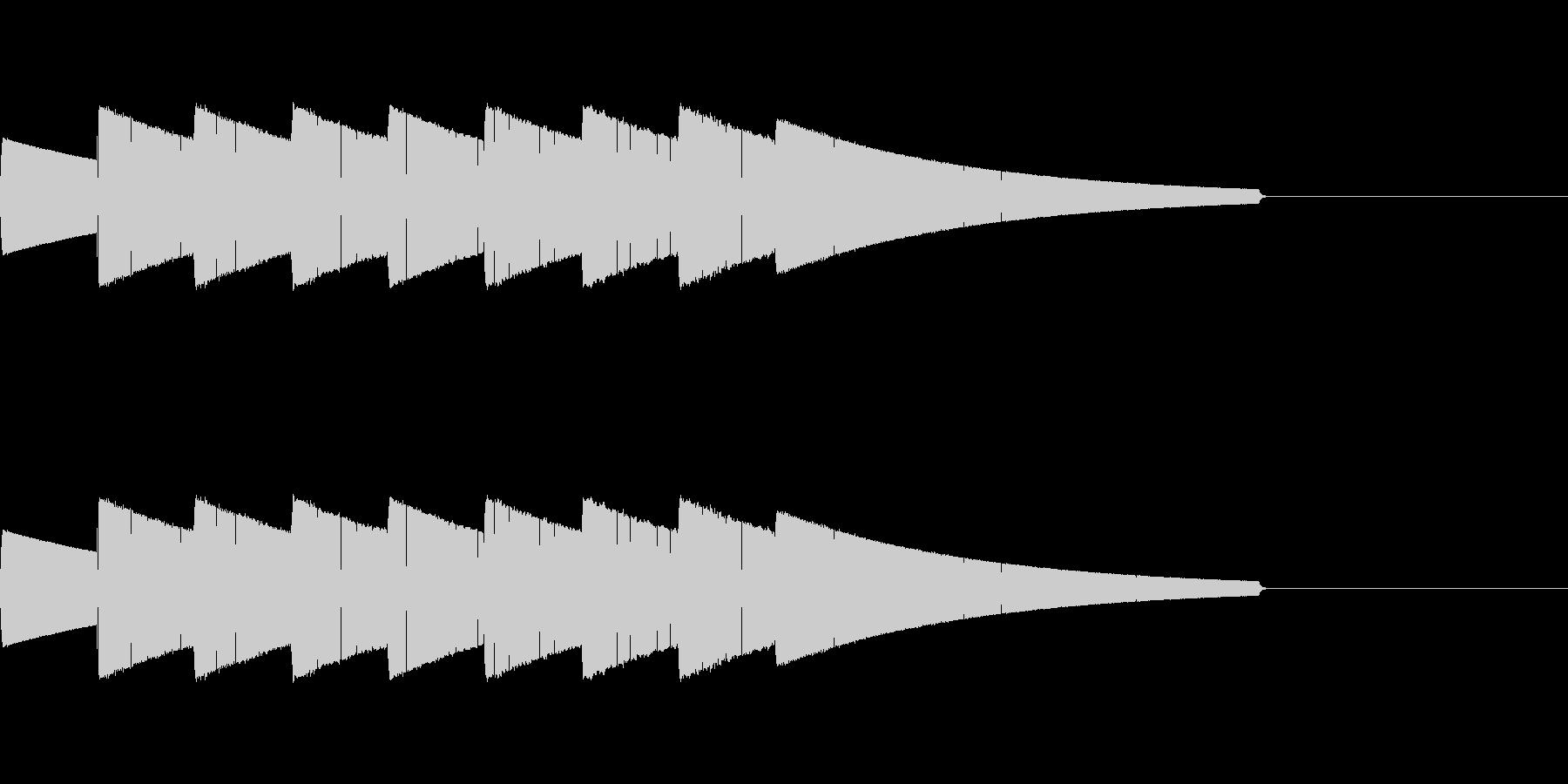 コンビニの入店音をイメージしたジングル…の未再生の波形