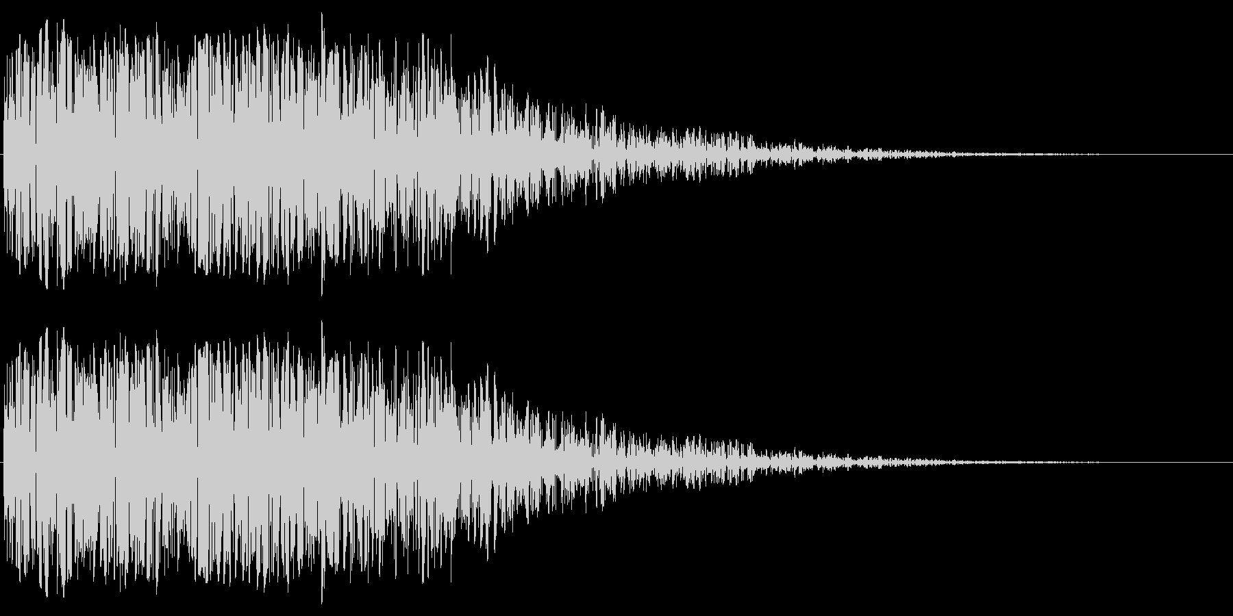 昭和の特撮にありそうな衝撃音(ドーン)の未再生の波形