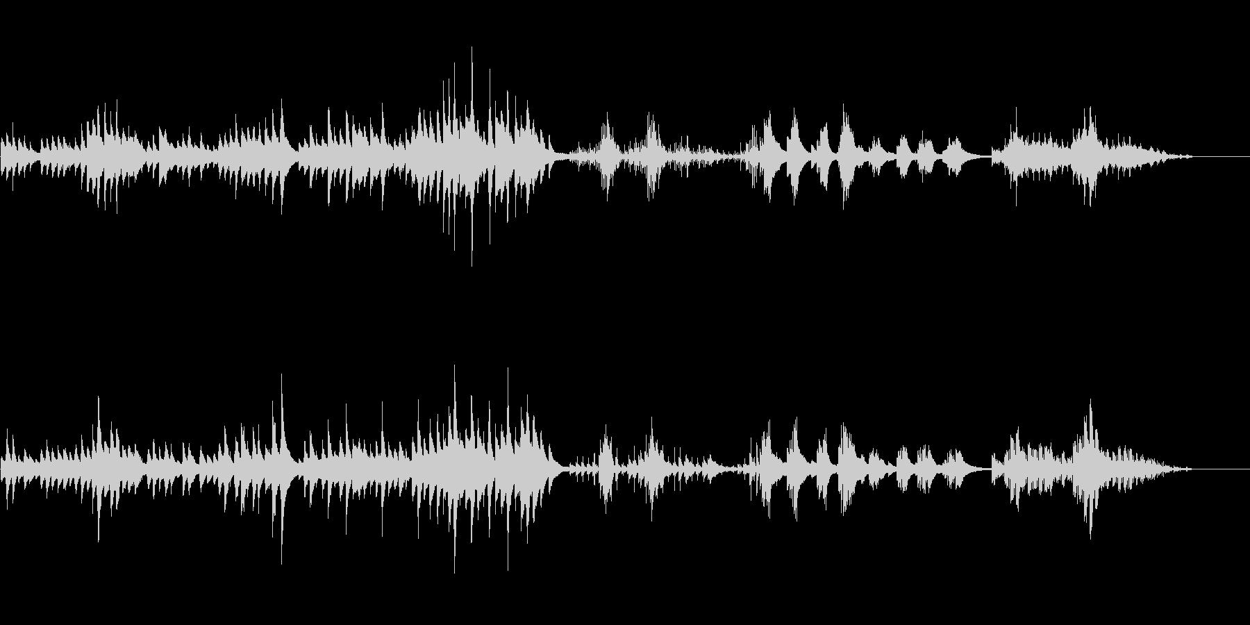 ミディアム・スローの美しいピアノ曲の未再生の波形