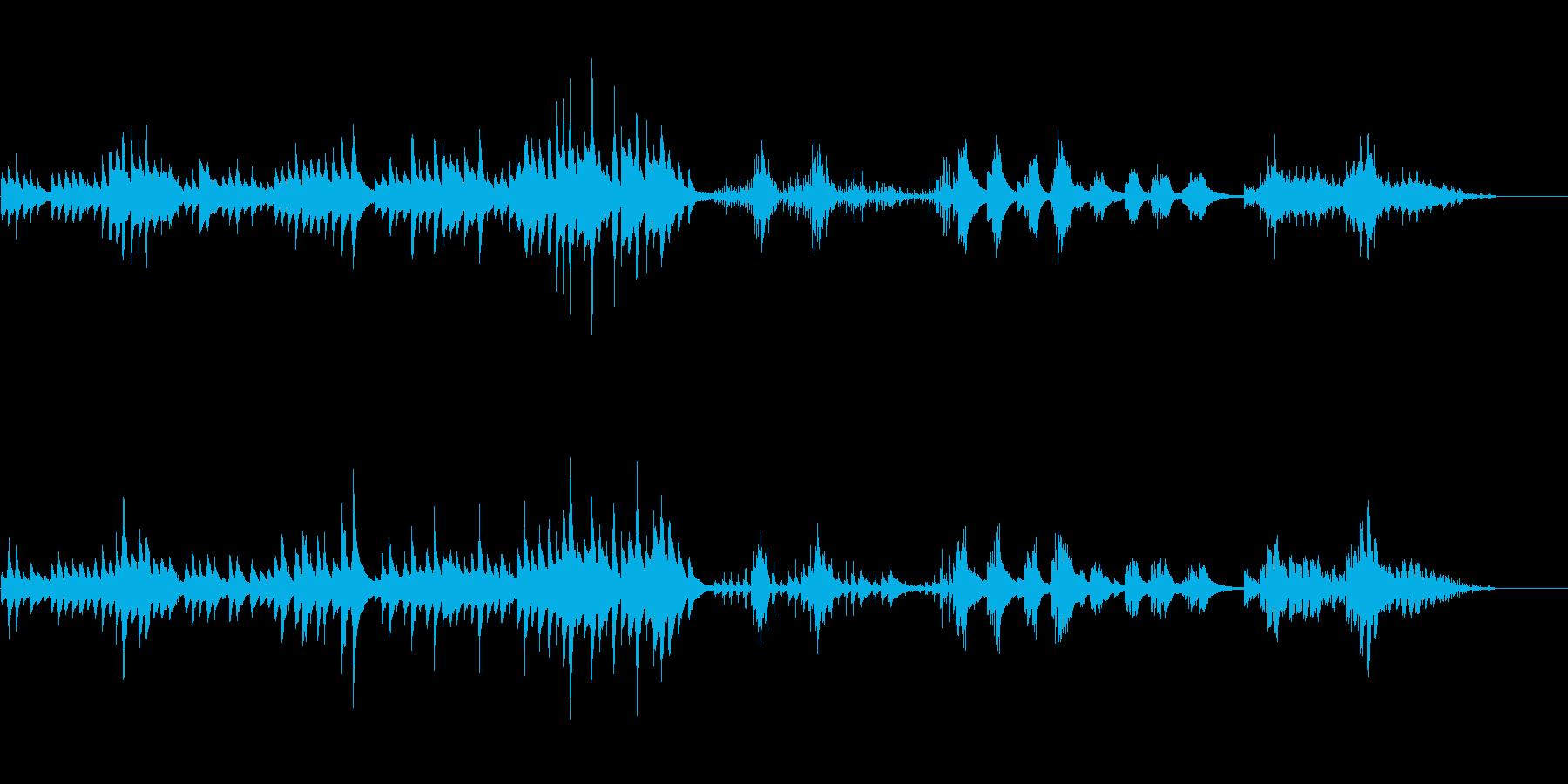 ミディアム・スローの美しいピアノ曲の再生済みの波形