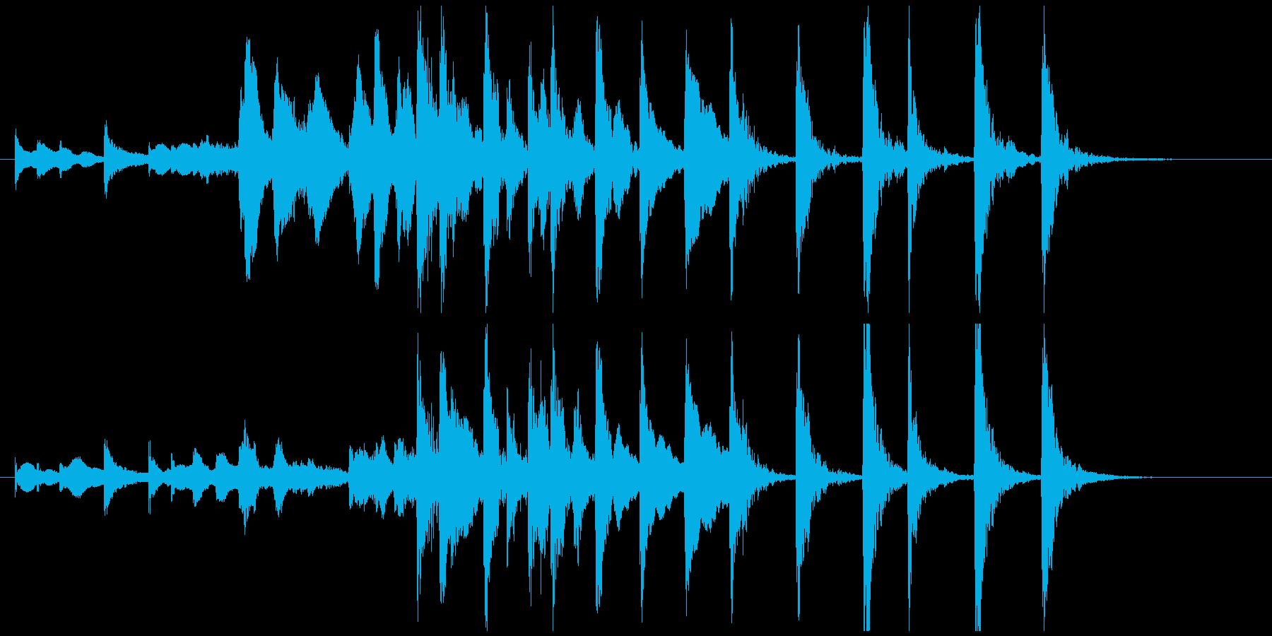 ミステリーがはじまりそうなジングルの再生済みの波形