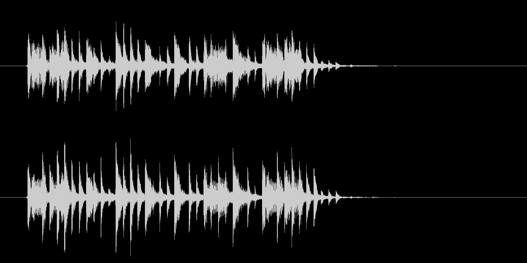 リズミカルで緩やかなテクノポップジングルの未再生の波形