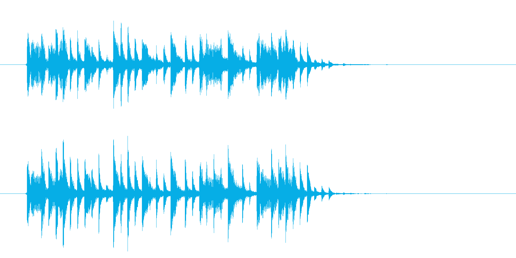 リズミカルで緩やかなテクノポップジングルの再生済みの波形
