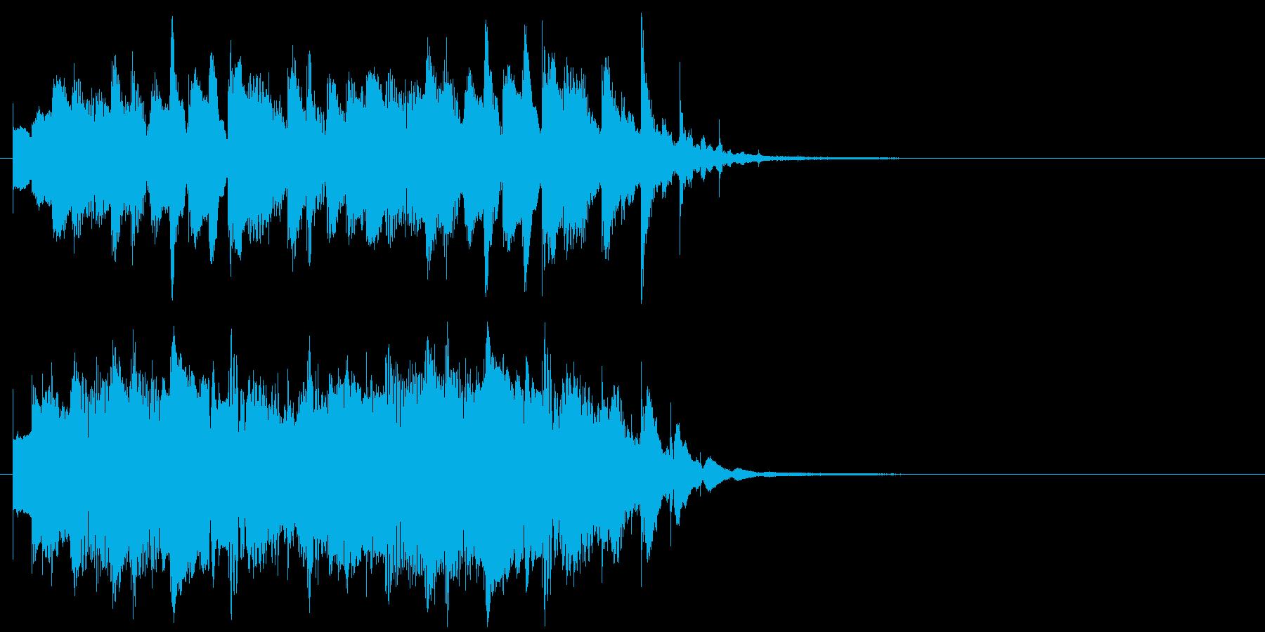 企業ジングル 科学テクノロジー系映像用の再生済みの波形