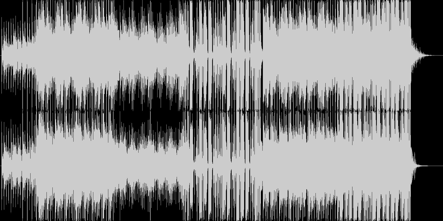 軽快なポップ・ロックの未再生の波形