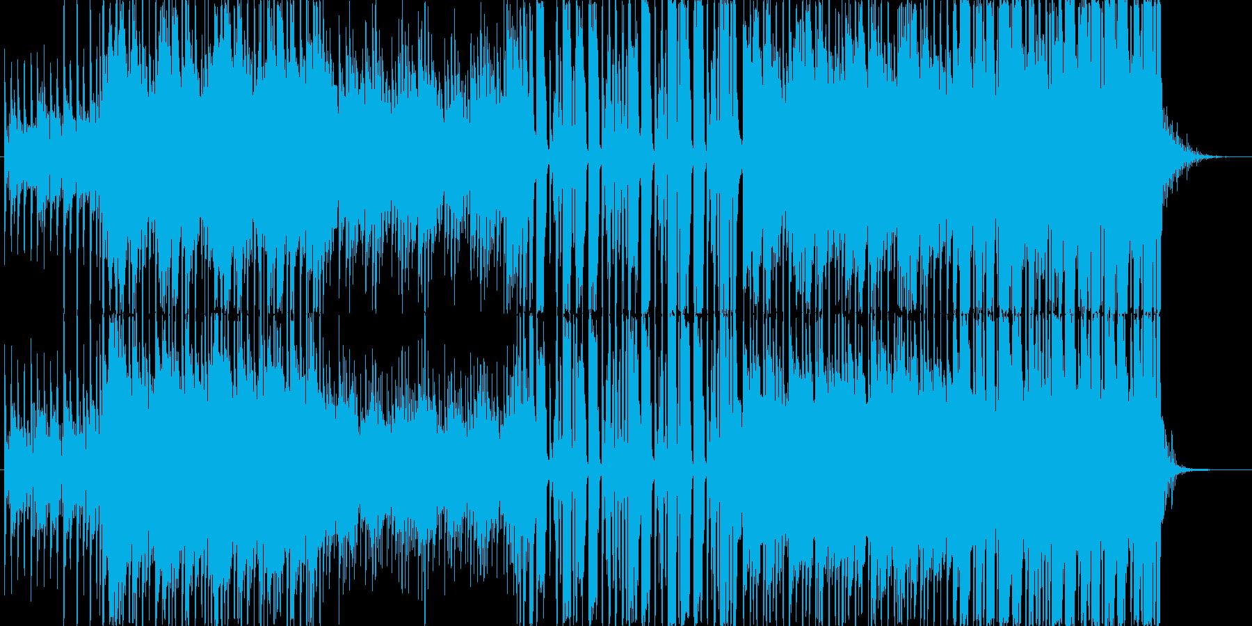 軽快なポップ・ロックの再生済みの波形