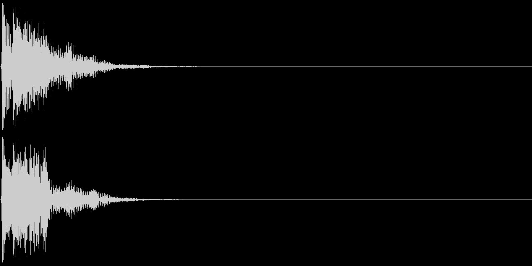 キラン(決定音、起動音、ゲームアプリ)の未再生の波形