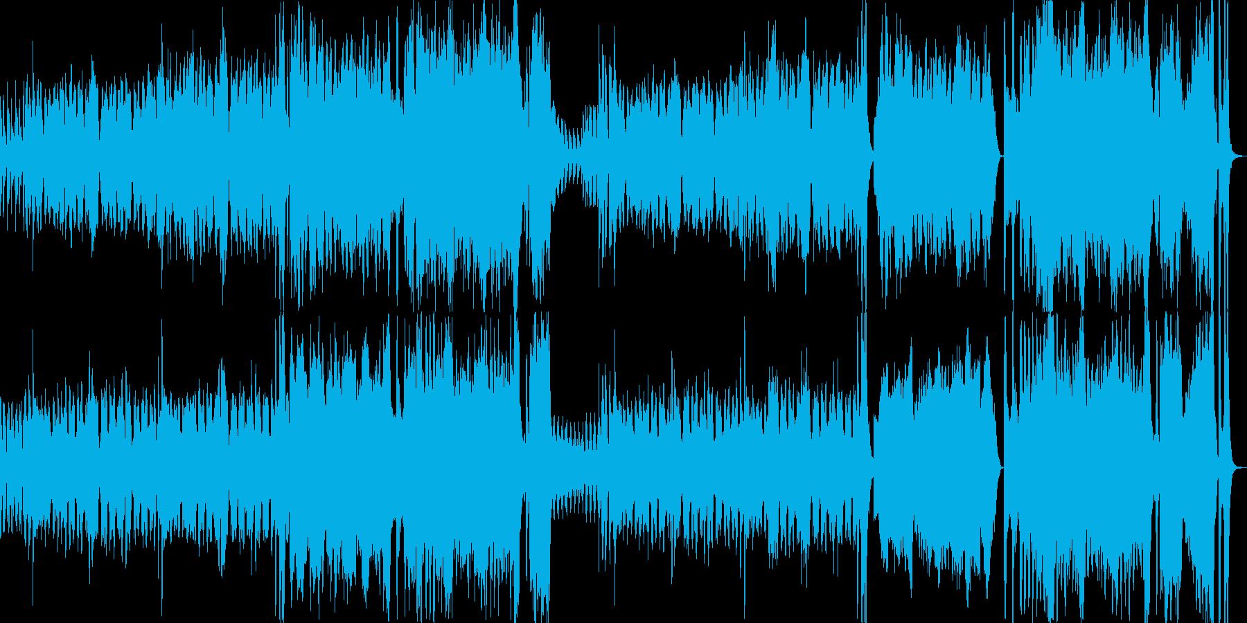 楽しいほのぼのとしたオーケストラの再生済みの波形