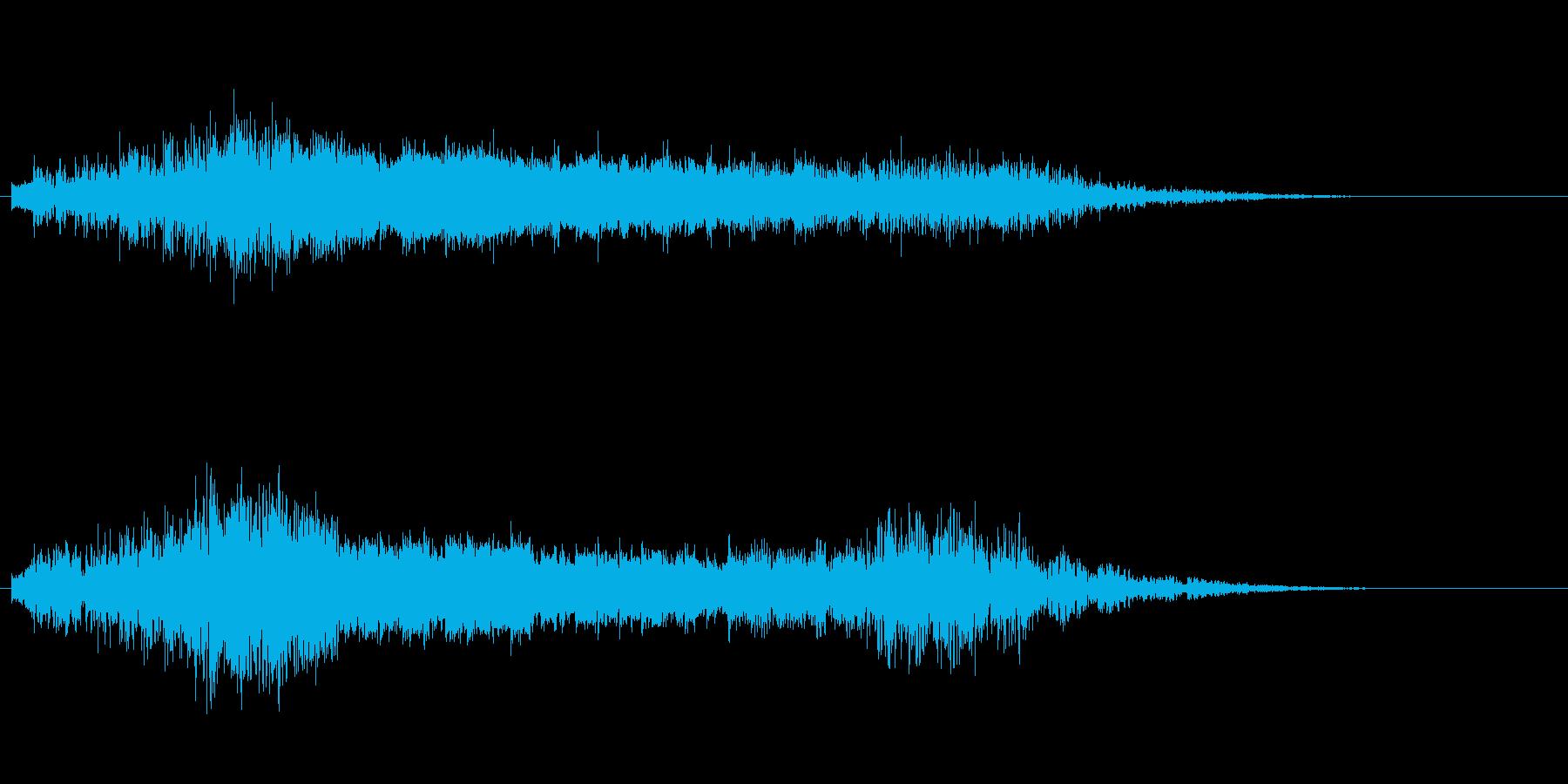 ↑↓キラキラ上昇&下降の再生済みの波形