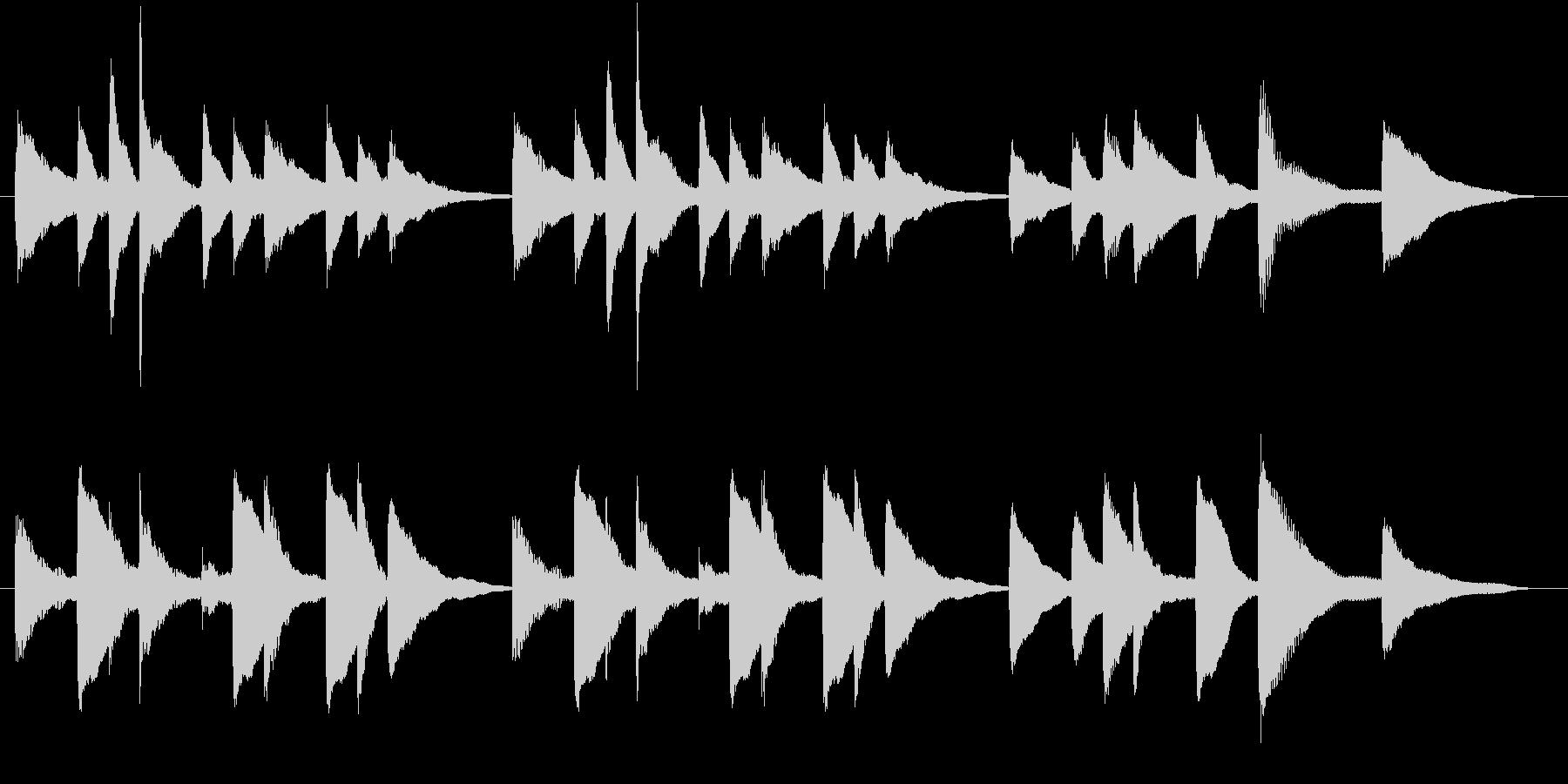 穏やか、ほのぼのとしたピアノのジングルの未再生の波形