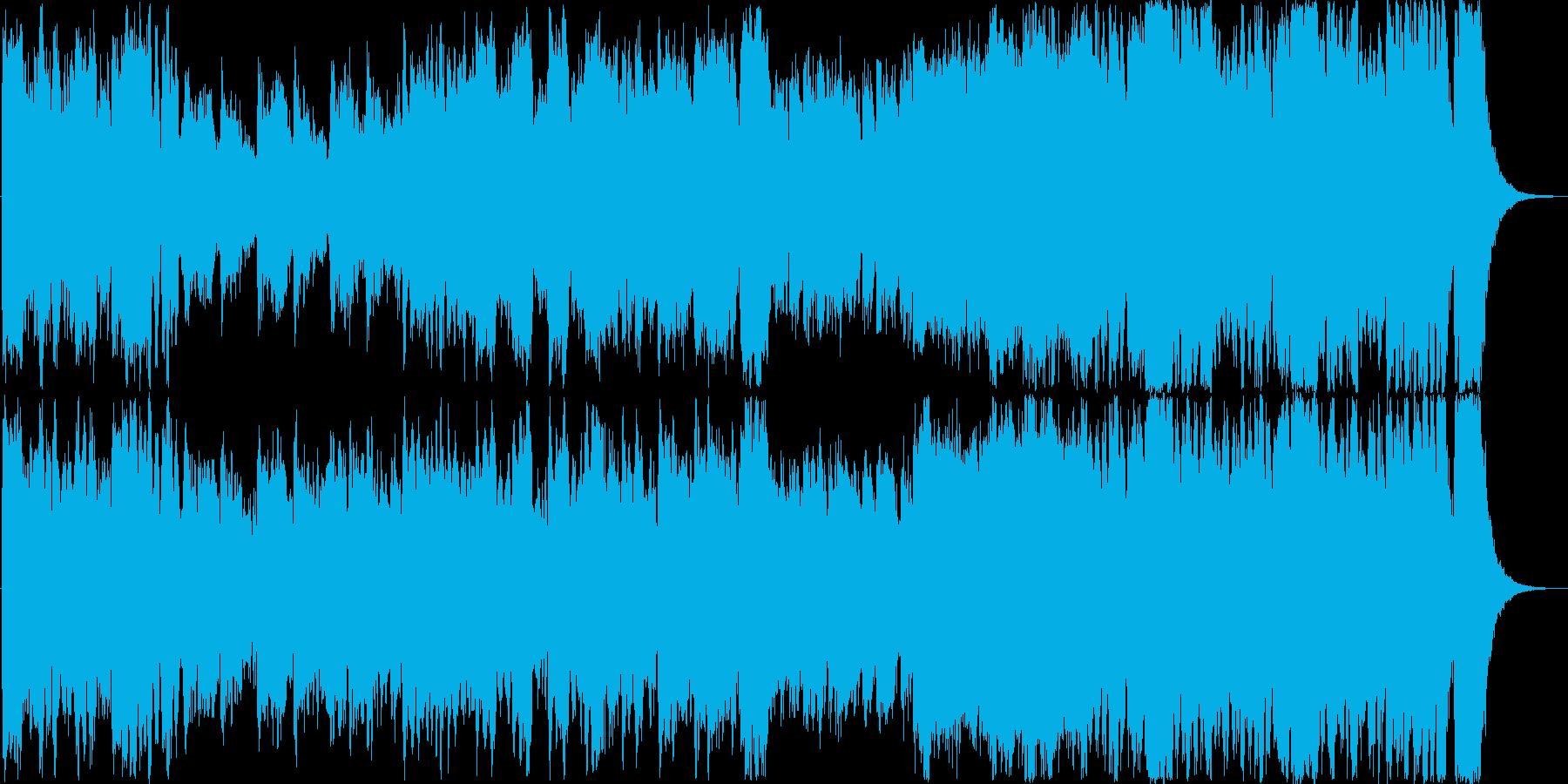 勇ましい和風オーケストラ曲の再生済みの波形