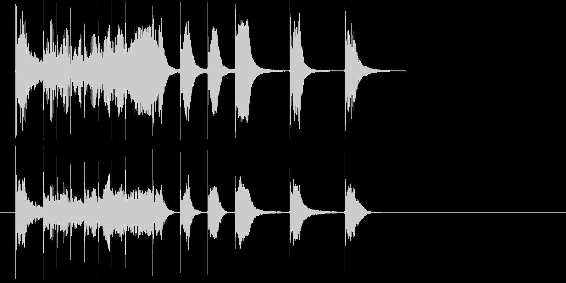 明るく軽快なコミカルジングルの未再生の波形