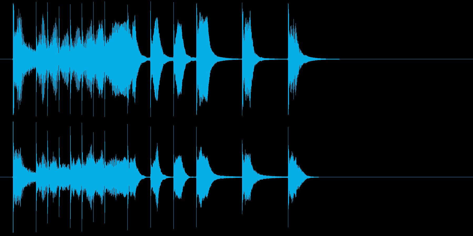 明るく軽快なコミカルジングルの再生済みの波形