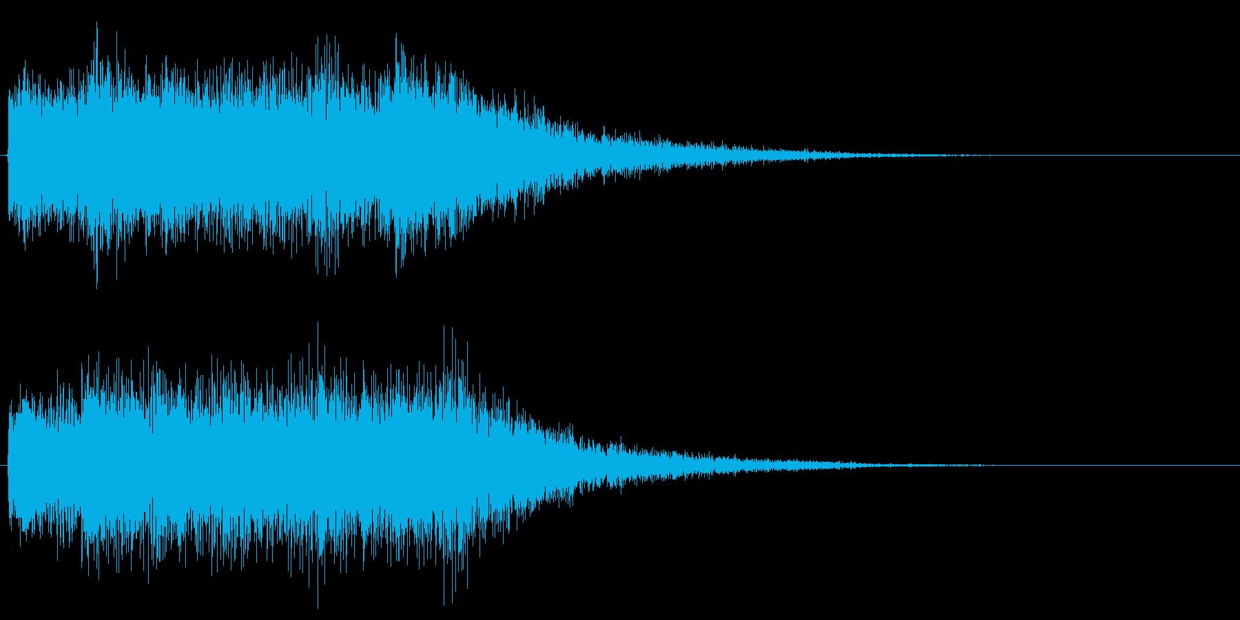 ゲームオーバー音 派手 おおげさな音の再生済みの波形