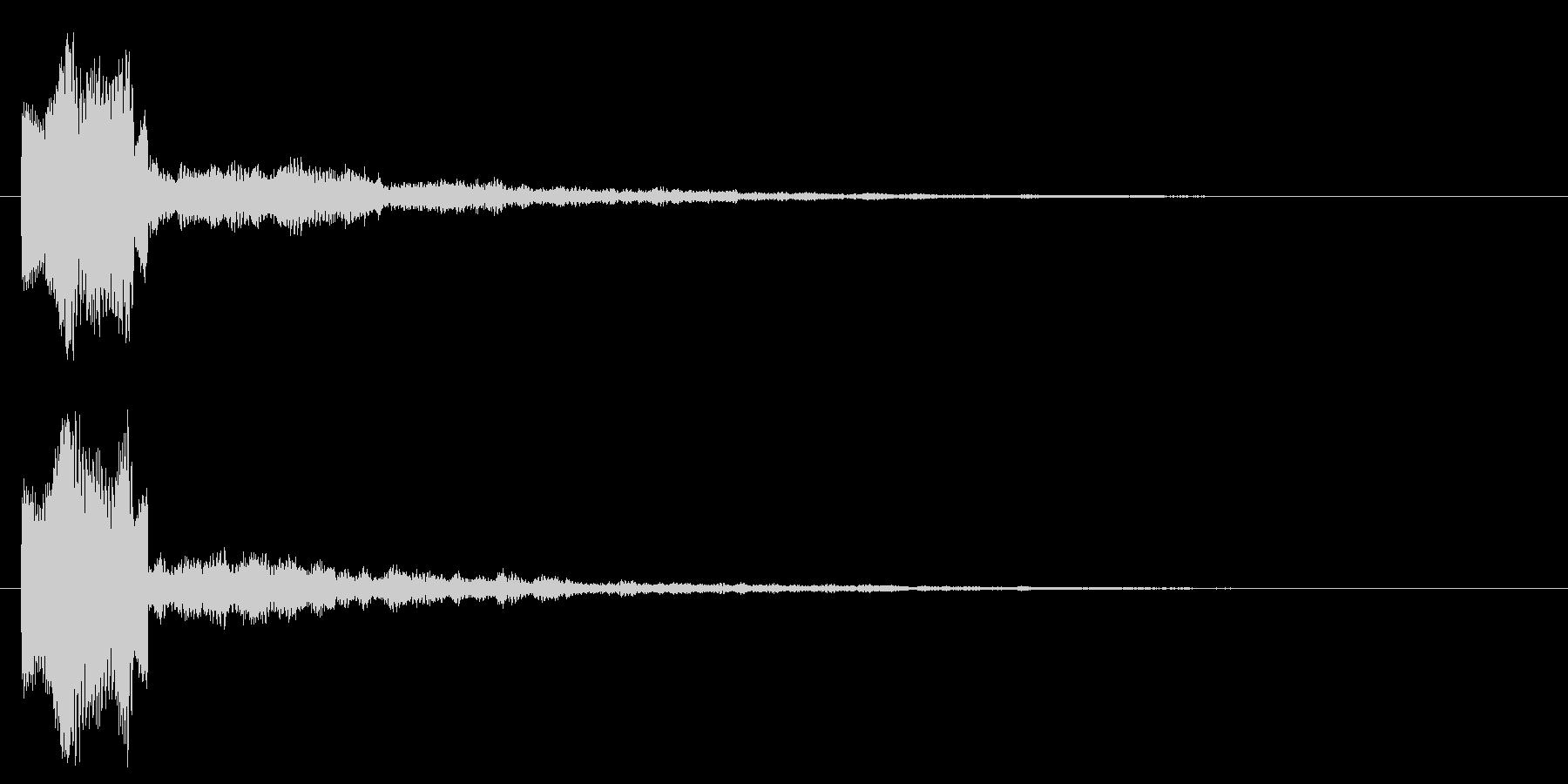 キラキラ 決定 選択 セレクト きらの未再生の波形