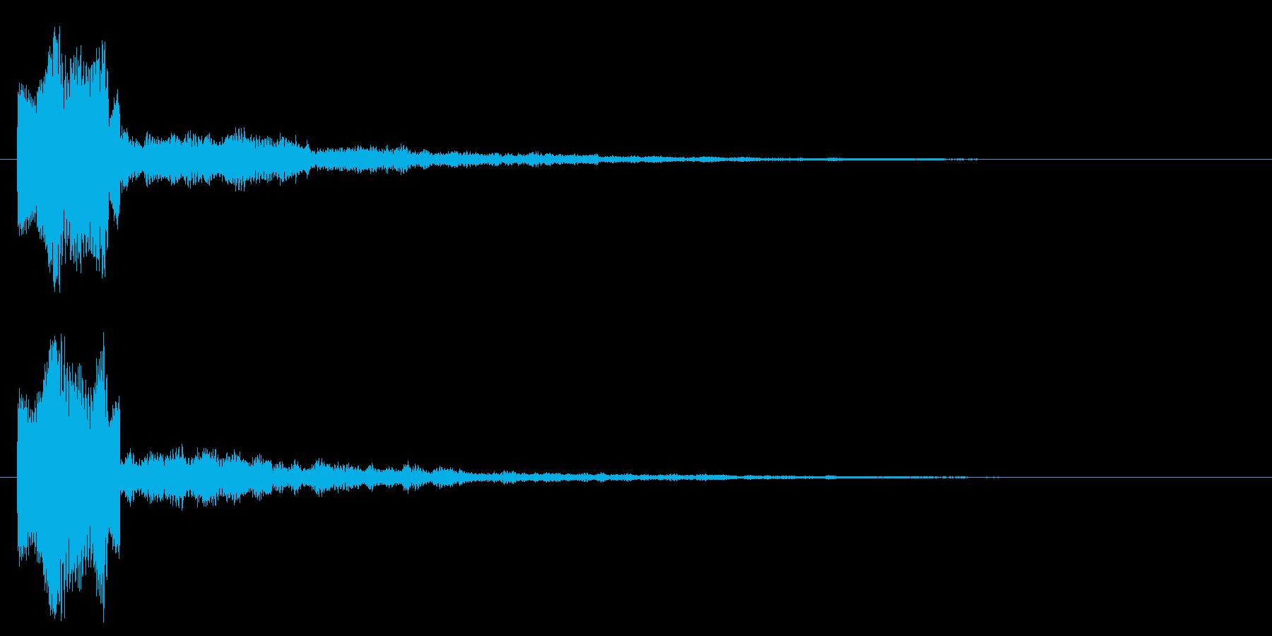 キラキラ 決定 選択 セレクト きらの再生済みの波形